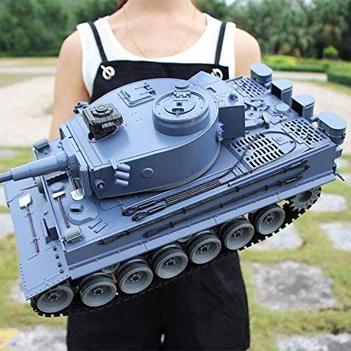 Coches de Control Remoto 1:18 Tanque de Alta Velocidad Super Grande para niños Radio de Carga Principal Tanque de Batalla Juguete para niños Niños Niñas, Tanques Recargables Modelo de Carro Regalos d
