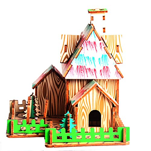 Wooden Puzzles for Kids, Jigsaw for Kids DIY Wooden Toys Parent-Child Handmade Toys No Glue Required,Best Birthday Present for Boys and Girls