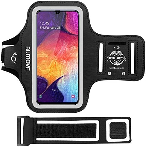 Galaxy A11 A20 A30 A50 A51 Armband BUMOVE Gym Running Workouts Sports Cell Phone Arm Band for product image