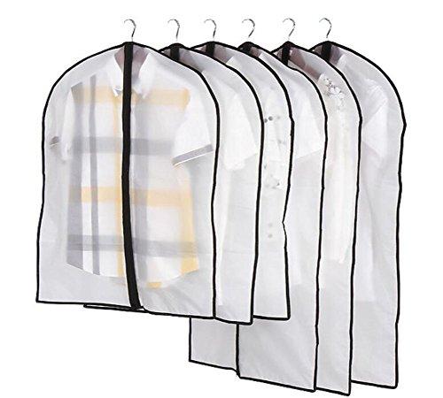 5 pièces housses de protection transparentes zippéesEVA plastique Aucune odeur lavable pour Vêtements costumes manteaux
