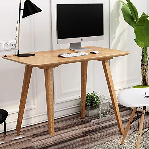 JUAN-Lapdesks Einfaches Modernes Tischrechner-Schreibtischhauptschlafzimmerbüro des Nordischen Festen Holzschreibtischs, Das Schreiben Der Kleinen Tabelle Lernt (Size : 80x40x75cm)
