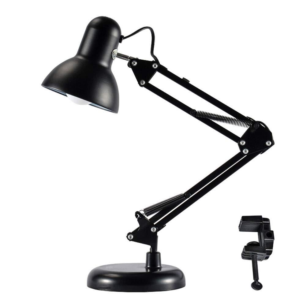 Schramm/® Retro Schreibtischlampe in schwarz aus Metall mit Gelenkarm Arbeitslampe ohne Gl/ühbirne B/ürolampe Lampe Lampen