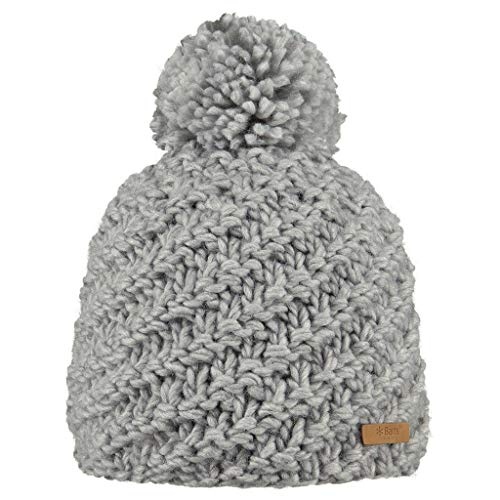Barts Chani Beanie Béret, Gris (0002-HEATHER Grey 002D), Unique (Taille Fabricant: UNI) Femme