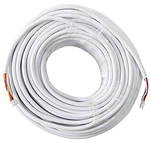 JSLBtech 30M / 100FT RVV4 4 núcleos Cable Extensión para Intercomunicador de Video/Cables de Timbre de Teléfono de Puerta de Video/Cable de intercomunicador