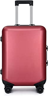 KTYXDE Trolley Fashion Universal Wheeled Trolley Travel Essential 20 Inch Boarding PC Trolley Luggage Trolley case (Color : Red, Size : 20 inches)