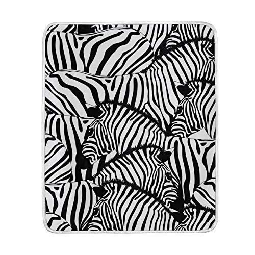 My Daily Zebra - Manta de microfibra de poliéster, diseño de rayas, color blanco y negro