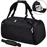 NEWHEY Sports Gym Duffel Bag with Shoe Compartment Waterproof Travel Holdall Large Sport
