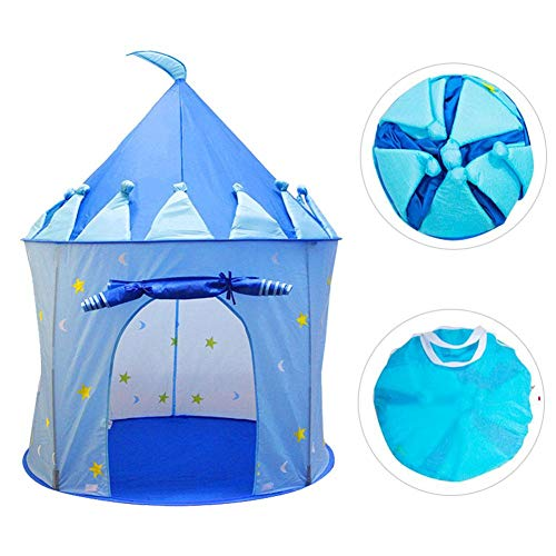 Kinderzelt, Indoor Game House Tragbare Kinder Spielen Prinzessin Small Stage Tent Kids Nook Tent(Blau)