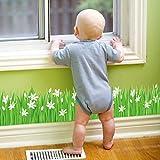 Pequeñas faldas Lilie Gras Line Bad Veranda Puerta y ventana Decoración Papel pintado 127 * 25cm