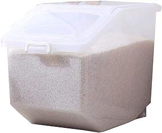 AWAING Bocaux Preuve céréales Conteneurs Grains/farine/haricots Boîte de rangement en plastique Joint humidité Cuisine ali...