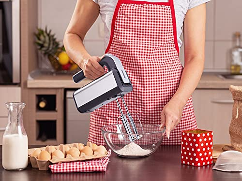 Skytone 800-Watt Hand Mixer Beater Blender Electric Cream Maker for Cakes with Base 5 Speed Control | 2 Stainless Steel Beaters| 2 Dough Hooks