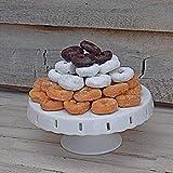 Cake Stand White 10 Inch Ceramic Pedestal Cake Platter Display Plate (10 inch)