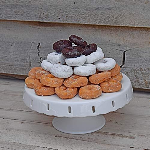 Tortenständer, Cupcake-Display, Porzellan, Hochzeitstorte, 25,4 cm, rund, Dessert-Servierständer für Partys, Sockel mit austauschbarem Band inklusive 3 Bändern