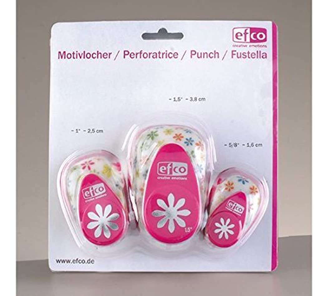 EFCO Design Punch Set Daisy 16 mm/ 25 mm / 37 mm 3 Parts, Pink