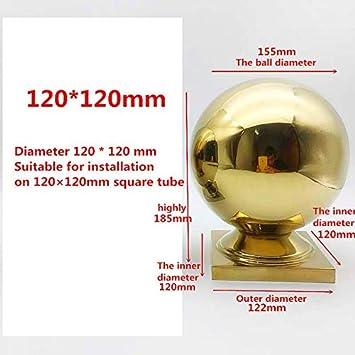 ALXY 304 billes en acier inoxydable Si/ège boule carr/ée Si/ège boule int/érieur et ext/érieur Rampe descalier Conjoined Boule Soud/és boule creuse Convient for escalier ext/érieur D/écoration Cl/ôture