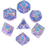 cusdie Frosted Dice Polyhedral Dice Sets DND for Dungeons and Dragons(D&D) Role Playing Game(RPG) MTG Pathfinder Table Game Dice(Pruple