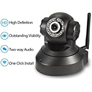NEW VERSION TENVIS IP Camera -720P IP Camera Supporting Smart Wi-Fi, Night Vision Camera, Smart Camera for Pet Baby Monitor, Home Security Camera Motion Detection Indoor Camera with Micro SD Card Slot