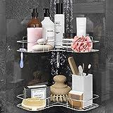 Lovelers 2-Pack Shower Caddy Shelf, Suction Tray, Steel Storage Organizer for Bathroom,Kitchen,Laundry - Razor,Shampoo...
