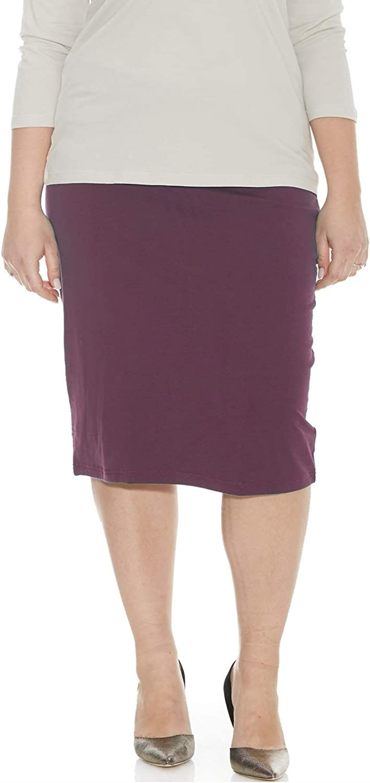 ESTEEZ Women's Pencil Skirt - Plus Size - Modest Stretchy Knee Length - Dallas