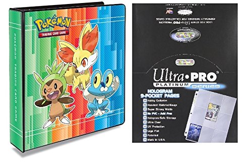 "Pokemon X & Y 2"" 3-Ring Binder with 100 Ultra Pro Platinum 9-Pocket Sheets"