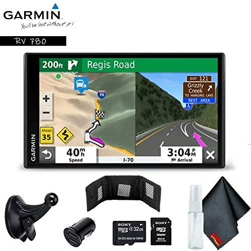 Garmin RV 780 & Traffic 6.95inch Advanced GPS with Custom RV Routing, Campground Directories, Bundle Includes Extended Warranty