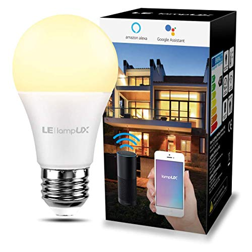 LE 9W Smart E27 LED Lampen, Warmweiß, 806LM, Dimmbar LED Leuchtmittel, WLAN LED Birnen, Ersatz für 60W Glühbirne, kompatibel mit Alexa und Google Home, 2,4 GHz, Kein Gateway erforderlich, 1 Pack