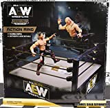 AEW Medium Ring Playset - Toy Wrestling Action Figure Ring Playset by Jazwares Wicked Cool Toys