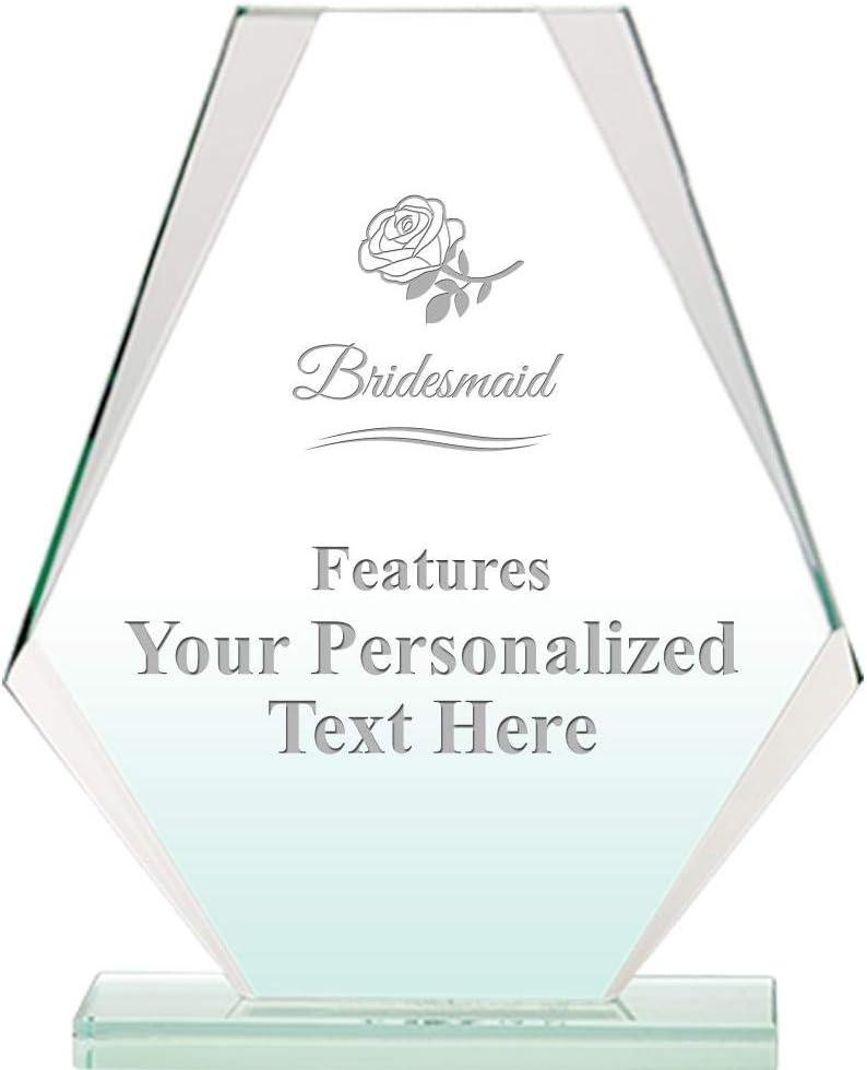 Classic Bridesmaid Jade Pyramid Crystal Award H 6