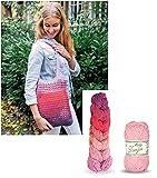 Rellana Kit de crochetage avec sac arc-en-ciel Rose – Sac à bandoulière – avec instructions (allemand)