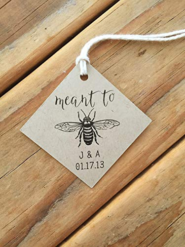 Meant to Be Honey Wedding Favor Tags