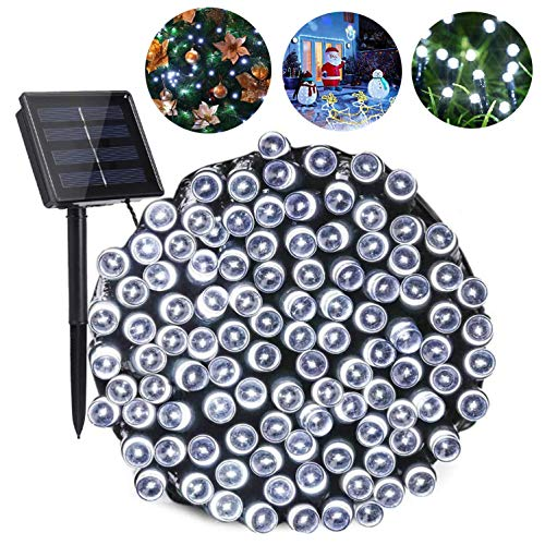 San Wealth 72FT 200 LED Solar String Lights Outdoor Upgraded Super Durable and Bright Waterproof Copper Wire Fairy Lights for Garden Patio Yard Party Festival Wedding Decorations (Sliver)