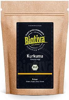 Kurkuma-pulver bio 1000 g – högklassig kurkumawurzel (Curcuma) – Superfood – fylld och kontrollerad i Tyskland (DE-ÖKO-005)