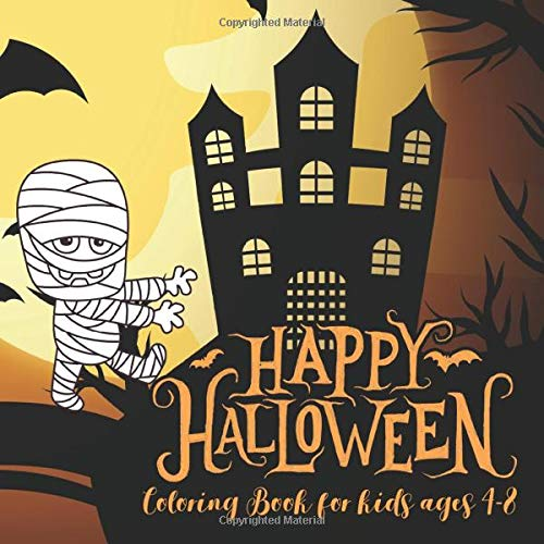 Halloween Coloring Books for kids ages 4-8: happy halloween coloring book for toddlers pumpkins desi