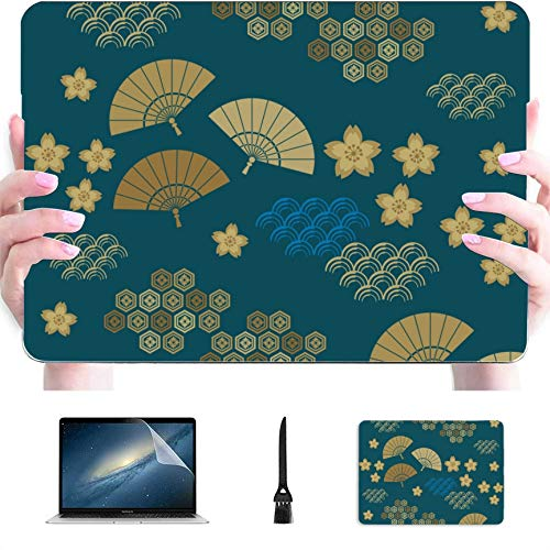 MacBook Pro Case 2015 Traditional Folding Fan Plastic Hard Shell Compatible Mac Air 13' Pro 13'/16' 15 Inch MacBook Case Protective Cover for MacBook 2016-2020 Version