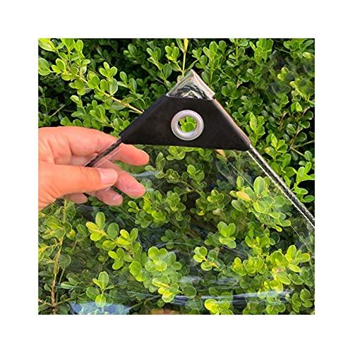 FSYGZJ Lona Transparente, lámina de plástico PE Grueso Impermeable para Trabajo Pesado con Ojales para Cortinas a Prueba de Lluvia al Aire Libre, 26 tamaños (Color: Transparente, Tamaño: 1.4x2m)