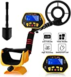 Sailnovo Metal Detector, High Accuracy Adjustable Detectors with Waterproof Coil, LCD Display, Pinpoint/DISC/All Metal Mode, Lightweight Handheld Gold Silver Locator for Adults and Kids