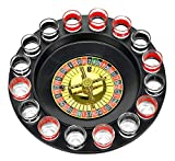 ✔ FUN AT ANY PARTY Fill the shot glasses, put them in the rim, place your bets and spin. The winner drinks! Great gift idea for 21st birthday party ✔ COMPLETE DRINKING GAME SET Includes spinning roulette wheel, two metal balls and 16 glasses ✔ FINE Q...
