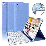 BAIBAO Teclado para iPad 10.2, Funda Teclado Inalámbrico para iPad 10.2/10.5 con Teclado Bluetooth Español,Funda para iPad con Teclado Desmontable