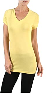 Hollywood Star Fashion Women's Deep V-Neck Short-Sleeve Shirt