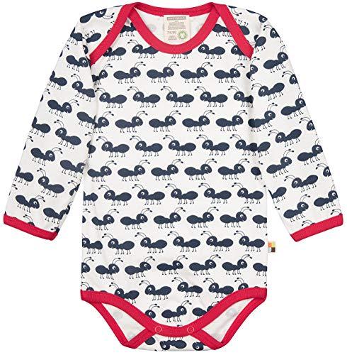 loud + proud loud + proud Baby-Unisex Body Langarm aus Bio Baumwolle, GOTS Zertifiziert Spieler, Blau (Navy Ny), (Herstellergröße: 50/56)
