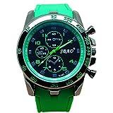 Men Wrist Watch - SBAO Stainless Steel Luxury Sport Analog Quartz Modern Men Fashion Wrist Watch Green