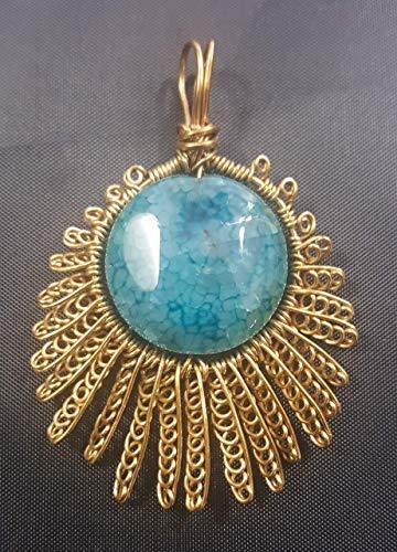 Blue Agate Star Pendant - 2