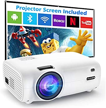 Vili Nice 6500-Lumens Outdoor Movie Projector with 100