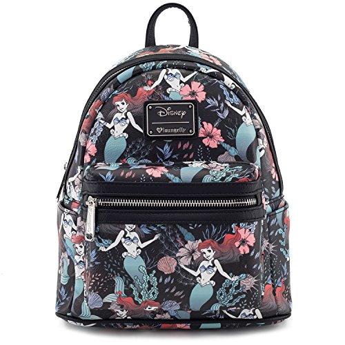 Price comparison product image Loungefly x Disney Little Mermaid Ariel Mini Backpack Black