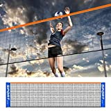 Malla de badminton portátil, red de voleibol de tenis de badminton plegable ajustable, red de voleibol de fácil configuración para la formación de tenis y deportes al aire libre (sólo malla)