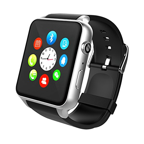 Orologio Smart Bluetooth,STOGA Più Suovo Supporto Smart Card Smart Smart Watch di Sweatproof Smart Phone per smartphone Android Smart e Smartphone per Android e IOS (Silver)