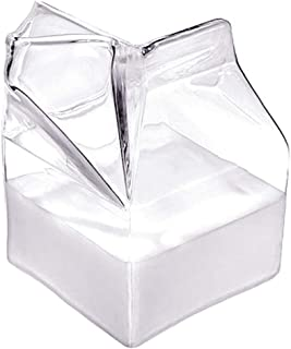 DGQ Half Pint Creamer Glass Mini Milk Carton Container Water Glass Cup