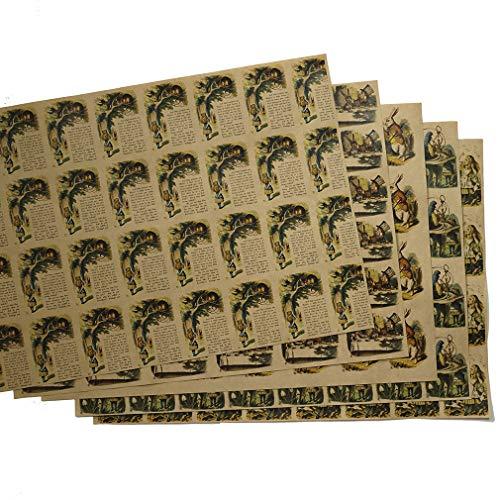 紙製ブックカバー 「不思議の国のアリス」彩色版 A3判 クラフト紙