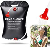 Fing Portable Shower Bag for Camping 5 gallons/20L Solar Shower Bag for Outdoor Traveling Hiking Summer Shower