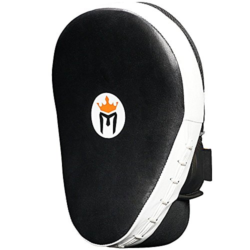 Meister Cowhide Leather Curved Focus Mitts w/Wrist Support (Pair)
